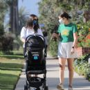 Lea Michele – Seen out with her husband in Santa Monica - 454 x 496