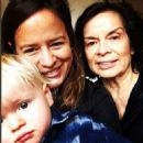 Bianca Jagger with daughter Jade Jagger & grandson Ray