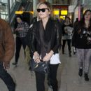 Demi Lovato arrived at the Heathrow Airport in London, UK after a flight in from Milan on April 1, 2012