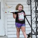 'It's good for the show': Honey Boo Boo looks sad on set after her parents Sugar Bear and Mama June split