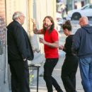 Dave Grohl is seen at 'Jimmy Kimmel Live' in Los Angeles, California