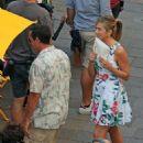 Jennifer Aniston – On set of 'Murder Mystery' in Milan