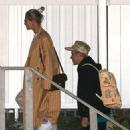 Hailey and Justin Bieber – Arrive for a Wednesday night church services in Beverly Hills
