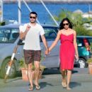 Rosario Dawson And Boyfriend Mathieu Schreyer In Ischia