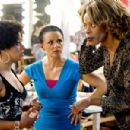 (Left to right) Charity (Essence Atkins) with her teachers Ms. Cameltoe (Amy Sedaris) and Ms. Dontwannabebothered (Kim Wayans) in the comic spoof 'Dance Flick.'