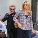 Rod Stewart and Penny Lancaster spotted out for lunch at the 208 Rodeo Restaurant in Beverly Hills, California on January 13, 2015 - 454 x 538