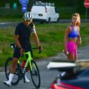 Nina Agdal – Work out with her boyfriend in The Hamptons