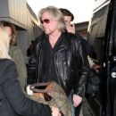 Daryl Hall is seen at LAX airport