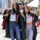 Gina Rodriguez and Rosario Dawson – On the 'Someone Great' set in NY - 454 x 681