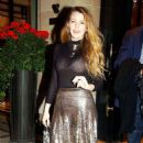 Blake Lively – Leaves Plaza Athenee hotel in Paris