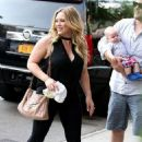 Hilary Duff and Mike Comrie out in NYC with baby Luca (July 15)