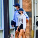 Kaia Gerber – With her boyfriend out in Soho – NYC