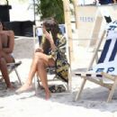 Olivia Culpo in Swimsuit – Arrives for a Peroni Event on the beach in Miami