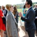Emma Stone and Luke Evans – Audi Polo Challenge – Day Two in Ascot - 454 x 743