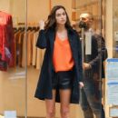 Irina Shayk – Look chic at the Falconeri boutique in NYC