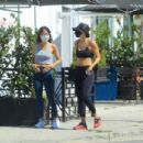 Elisabetta Canalis – Goes for a walk with a friend in West Hollywood - 454 x 303