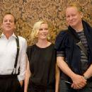 Kirsten Dunst, Kiefer Sutherland and Stellan Skarsgard in Melancholia - Trollhattan Press Conference. 26/07/2010 - 454 x 333