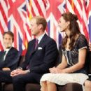 "The Duke And Duchess Of Cambridge Attend The Mission Serve ""Hiring Our Heroes Los Angeles"" Job Fair"