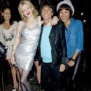 Ron Wood And Ana Araujo with Courtney Love