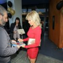 Donna D'Errico in Red Dress at Writer's Guild Theatre in Los Angeles - 454 x 605