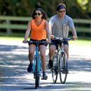 Lea Michele – Bike Riding in The Hamptons - 454 x 325