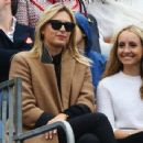 Maria Sharapova watching Grigor Dimitrov play at 2014 Aegon Championships
