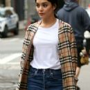 Vanessa Hudgens in a Burberry Trench Coat out in New York City - 454 x 1083