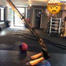 Nina Dobrev in Tights and Sports Bra – Workout