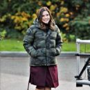 Sophia Bush – On set of her new TV show 'Surveillance' in Vancouver - 454 x 618