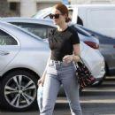 Madelaine Petsch – carries a Prada purse while shopping in LA - 454 x 641