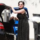 Dita Von Teese in Black Dress – Out in West Hollywood - 454 x 681