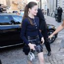 Mackenzie Foy – Arriving at Vogue Dinner Party in Paris