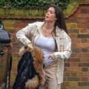 Casey Batchelor – Shows off her growing baby bump spotted out in Hertfordshire - 454 x 473