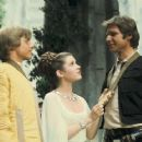 Mark Hamill, Carrie Fisher and Harrison Ford in
