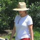 Reese Witherspoon walk her dog in Beverly Hills