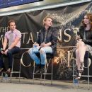 Kevin Zegers, Jamie Campbell Bower, and Lily Collins at the Mall of America promoting