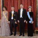 King Felipe VI of Spain and Queen Letizia of Spain : Gala Dinner - 454 x 303