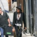 Joe Perry is seen arriving to 'Jimmy Kimmel Live' in Los Angeles, California on June 13, 2019