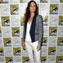 "Actress Sarah Wayne Callies attends the ""Colony"" press room during Comic-Con International 2015 at the Hilton Bayfront on July 10, 2015 in San Diego, California"