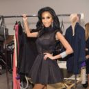 Lilly Ghalichi pose backstage during the Wantmylook by Lilly Ghalichi Style360 Spring 2015 fashion show at Metropolitan Pavilion on September 10, 2014 in New York City - 396 x 594