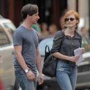 "Jessica Chastain: headed over to the set of ""The Disappearance of Eleanor Rigby"" in New York City"