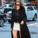 Gigi Hadid is spotted out for dinner in New York City, New York on June 17, 2016