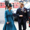 Prince Harry & Catherine Duchess of Cambridge Attends ANZAC Day Service