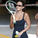 Kourtney Kardashian at a tennis court in Los Angeles
