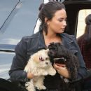 Demi Lovato – Arriving at the recording studio in West Hollywood - 454 x 374