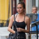 Chrissy Teigen In Leggings Out Walking Around New York