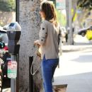 Alessandra Ambrosio Grabs a Coffee in Brentwood