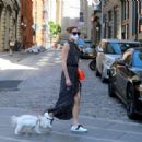 Olivia Palermo – Out for a walk with her dog Mr Butler in Downtown