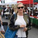 Natasha Henstridge – Shopping at the Farmers Market in Studio City - 454 x 681