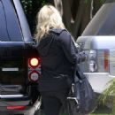 Jessica Simpson working on her post baby body while spotted leaving a gym in Los Angeles (June 12)